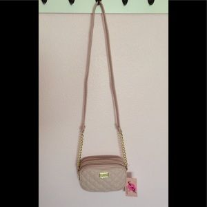 Small Betsey Johnson Light Pink Crossbody